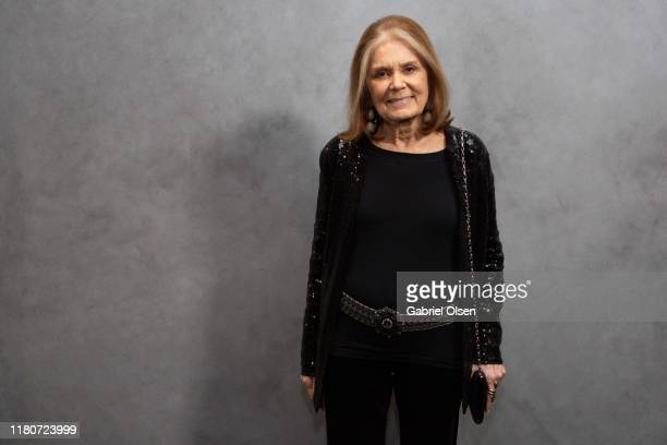 Gloria Steinem arrives for the 2019 Hammer Museum Gala In The Garden at Hammer Museum on October 12 2019 in Los Angeles California