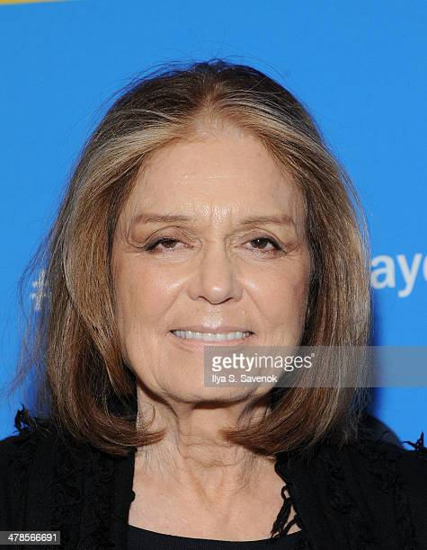 """Gloria Steinem attends """"Paycheck To Paycheck: The Life And Times Of Katrina Gilbert"""" New York Premiere at HBO Theater on March 13, 2014 in New York..."""