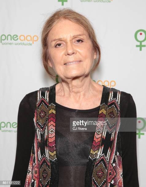 Gloria Steinem attends the APNE Aap dinner on September 21 2017 in New York City