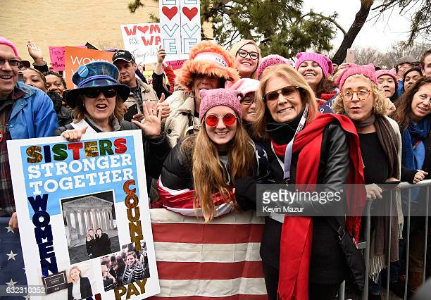 Gloria Steinem attends the rally at the Women's March on Washington on January 21 2017 in Washington DC