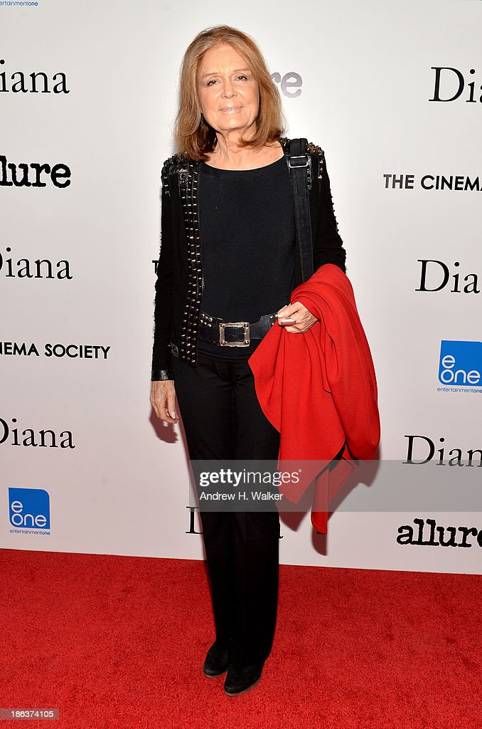 Gloria Steinem attends the screening of Entertainment One's 'Diana' hosted by The Cinema Society With Linda Wells and Allure Magazine at SVA Theater on October 30, 2013 in New York City.