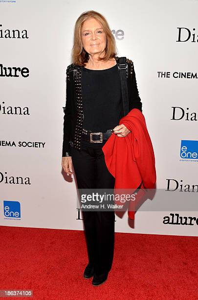 Gloria Steinem attends the screening of Entertainment One's Diana hosted by The Cinema Society With Linda Wells and Allure Magazine at SVA Theater on...