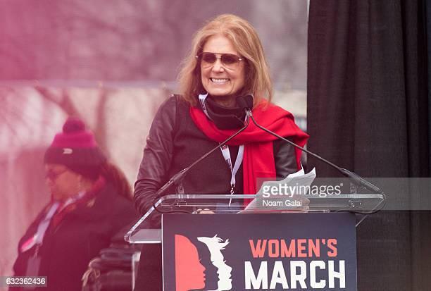 Gloria Steinem attends the Women's March on Washington on January 21 2017 in Washington DC