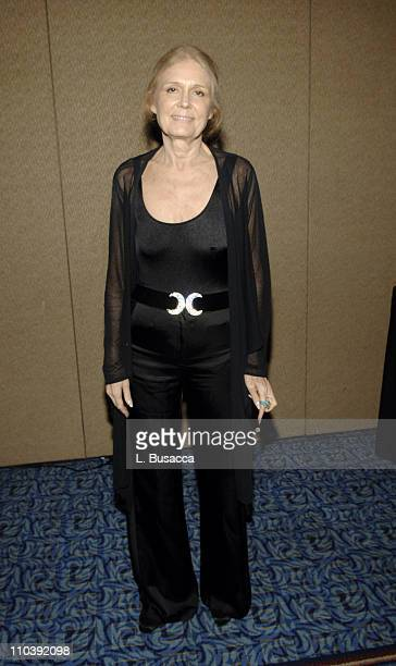 Gloria Steinem during American Women in Radio Television 30th Annual Gracie Allen Awards Inside at New York Marriot Marquis Hotel in New York City...
