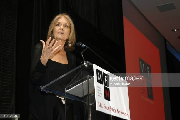 Gloria Steinem during Ms Foundation for Women's 18th Annual Gloria Awards at Mandarin Hotel in New York NY United States