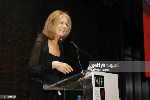 Gloria Steinem during Ms Foundation for Women's 18th Annual 'Gloria Awards' at Mandarin Hotel in New York NY United States