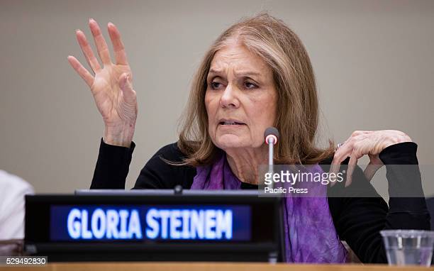 Gloria Steinem participated on a special event entitled Voices of Victims of Human Trafficking Readings from River of Flesh and Other Stories The...