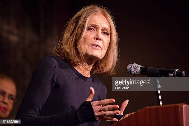 Gloria Steinem speaks at the 2016 NAN 'Keepers Of The Dream' Dinner And Awards Ceremony at the Sheraton New York Hotel Towers on April 14 2016 in New...