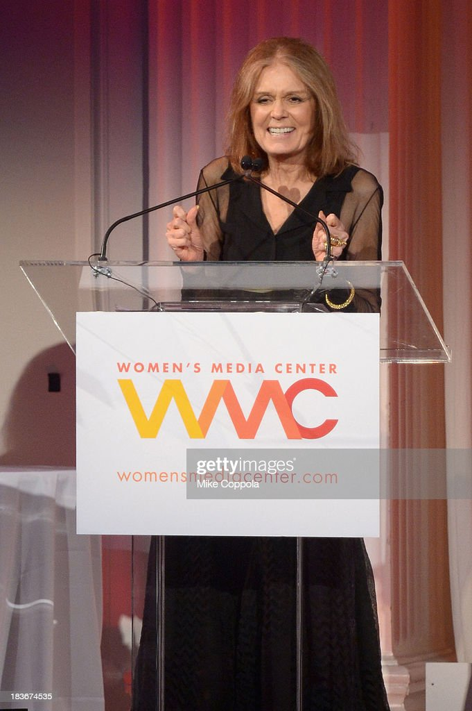 Gloria Steinem speaks onstage at the 2013 Women's Media Awards on October 8, 2013 in New York City.