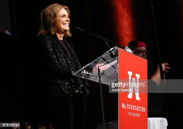 Gloria Steinem speaks onstage at the Ms. Foundation for Women 2017 Gloria Awards Gala & After Party at Capitale on May 3, 2017 in New York City.