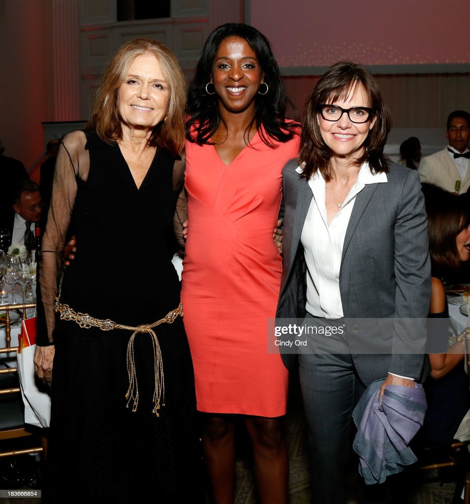 Gloria Steinem, Stacey Tisdale and Sally Field attend the 2013 Women's Media Awards on October 8, 2013 in New York City.