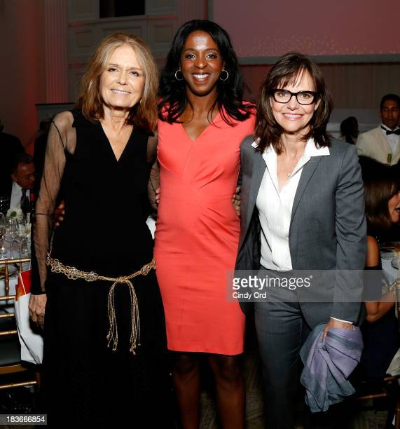 Gloria Steinem Stacey Tisdale and Sally Field attend the 2013 Women's Media Awards on October 8 2013 in New York City