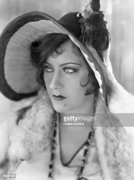 Gloria Swanson whose original name was Gloria Svensson the leading lady of the silent screen who started her career as a Mack Sennett bathing beauty