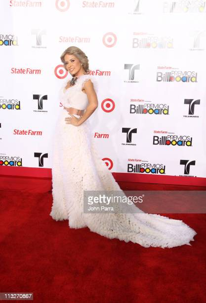 Gloria Trevi arrives at the 2011 Billboard Latin Music Awards at Bank United Center on April 28 2011 in Miami Florida