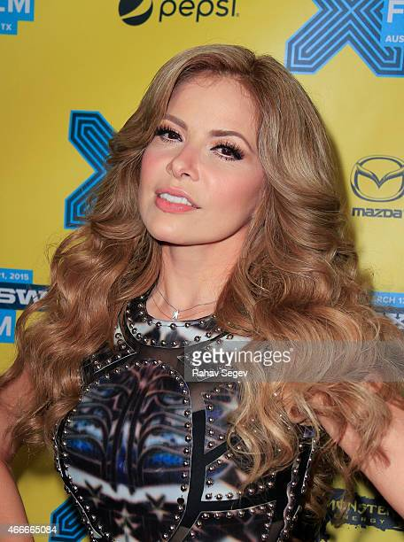 Gloria Trevi attends the premiere of Gloria at Topher Theater on March 17 2015 in Austin Texas