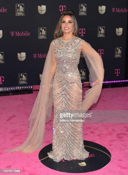 Gloria Trevi attends Univision's Premio Lo Nuestro 2020 at AmericanAirlines Arena on February 20 2020 in Miami Florida