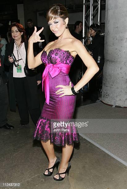 Gloria Trevi during Premio Lo Nuestro a la Musica Latina 2007 Backstage at American Airlines Arena in Miami Florida United States