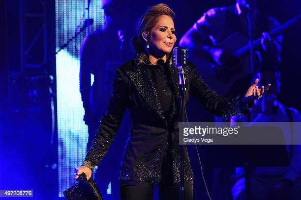 Gloria Trevi performs as part of 'El Amor World Tour' at Coliseo Jose M Agrelot on November 14 2015 in San Juan Puerto Rico