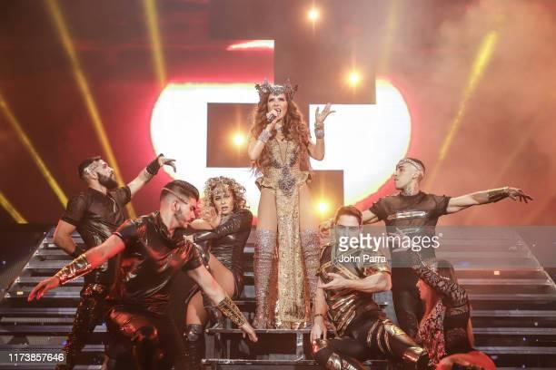 Gloria Trevi performs during her Diosa de La Noche Tour at American Airlines Arena on October 4 2019 in Miami Florida