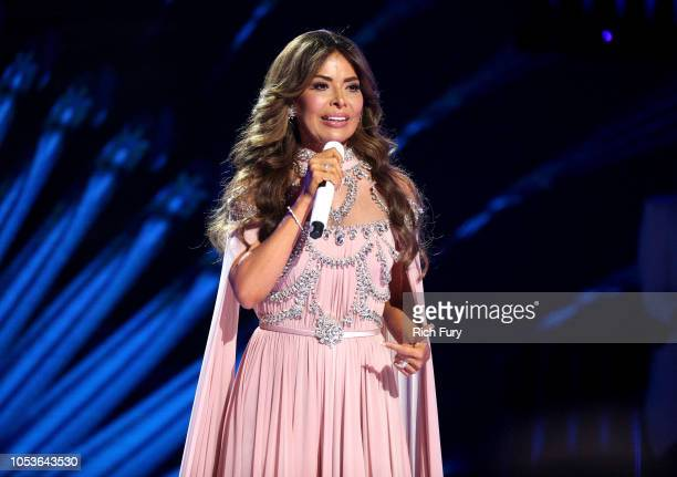 Gloria Trevi performs onstage during the 2018 Latin American Music Awards at Dolby Theatre on October 25 2018 in Hollywood California