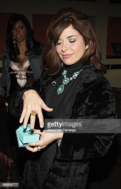 Gloria Trevi poses at Caramelo restaurant for her birthday celebration on February 15 2006 in Coral Gables Florida