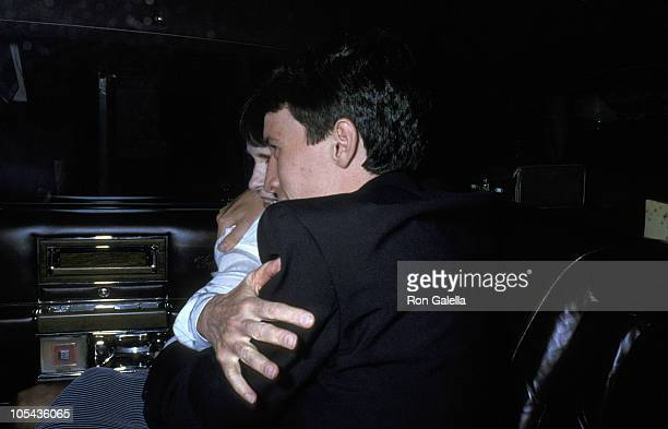 Gloria Vanderbilt and Anderson Cooper during Funeral for Gloria Vanderbilt's Son, Carter Cooper - July 26, 1988 at St. James Episcopal Church in New...