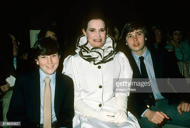 Gloria Vanderbilt and her sons Anderson Cooper and Carter Cooper photographed in New York City circa 1980