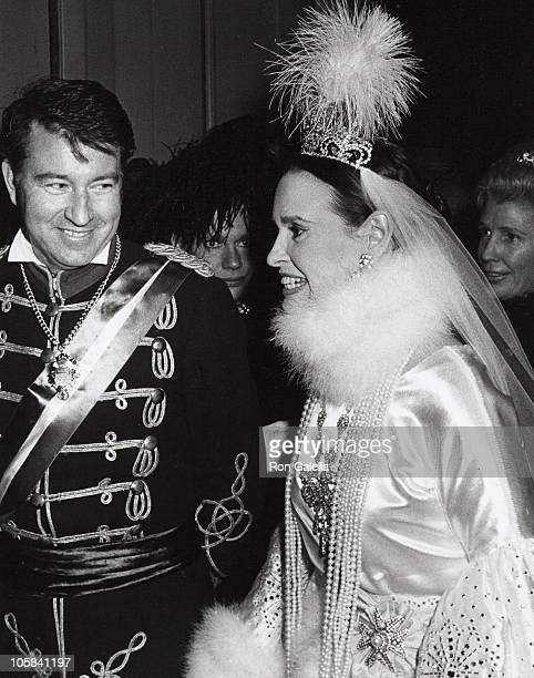 Gloria Vanderbilt and Husband during Nine O'Clock Ball December 1 1970 at Plaza Hotel in New York City New York United States