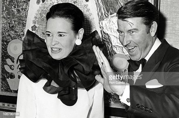 Gloria Vanderbilt and Husband Wyatt Cooper during Gallery Opening in New York City January 13 1969 in New York City New York United States