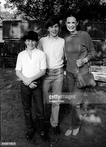Gloria Vanderbilt and sons Anderson Cooper Carter Cooper circa 1980 in New York City