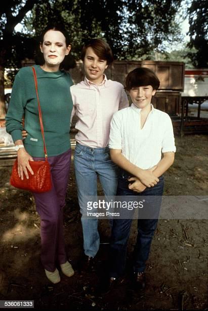 Gloria Vanderbilt Carter Cooper and Anderson Cooper circa 1988