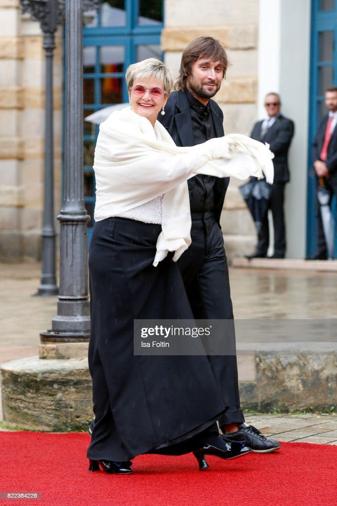 Gloria von Thurn und Taxis and Francesco Vezzoli attend the Bayreuth Festival 2017 Opening on July 25, 2017 in Bayreuth, Germany.