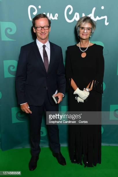 "Gloria von Thurn und Taxis and guest attend the ""House Of Cardin"" Special Screening At Theatre Du Chatelet on September 21, 2020 in Paris, France."