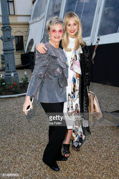 Gloria von Thurn und Taxis and her daughter Elisabeth von Thurn und Taxis attend the Thurn Taxis Castle Festival 2017 'Aida' Opera Premiere on July...