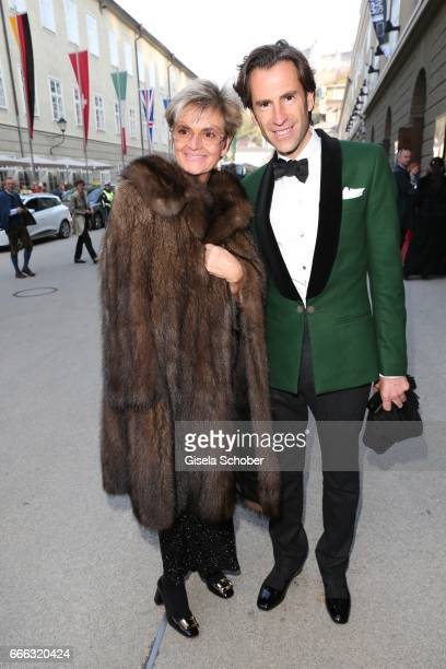 Gloria von Thurn und Taxis and Pierre Pelegry during the opening of the Easter Festival 2017 'Walkuere' opera premiere on April 8 2017 in Salzburg...