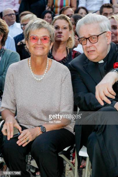 Gloria von Thurn und Taxis and Wilhelm Imkamp during the Jamie Cullum concert at the Thurn Taxis Castle Festival 2018 on July 20 2018 in Regensburg...