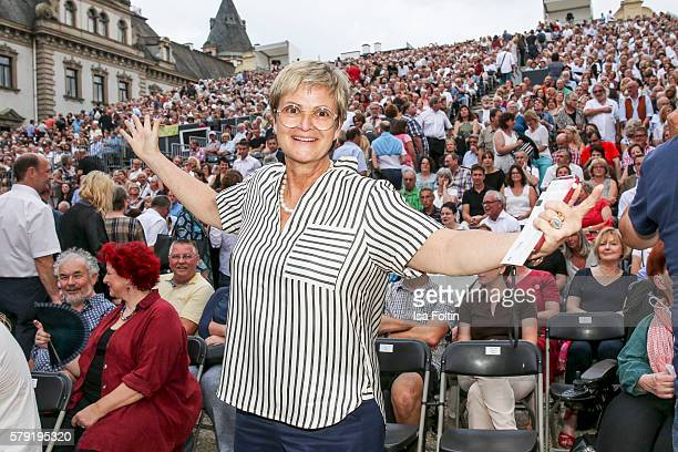 Gloria von Thurn und Taxis attends the Joan Baez Concert during the Thurn Taxis Castle Festival 2016 on July 22 2016 in Regensburg Germany