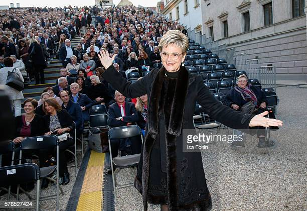 Gloria von Thurn und Taxis attends the Thurn Taxis Castle Festival 2016 'Carmen' Opera Premiere on July 15 2016 in Regensburg Germany