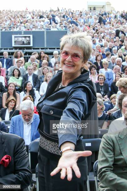 Gloria von Thurn und Taxis attends the Thurn Taxis Castle Festival 2018 'Evita' Musical on July 15 2018 in Regensburg Germany