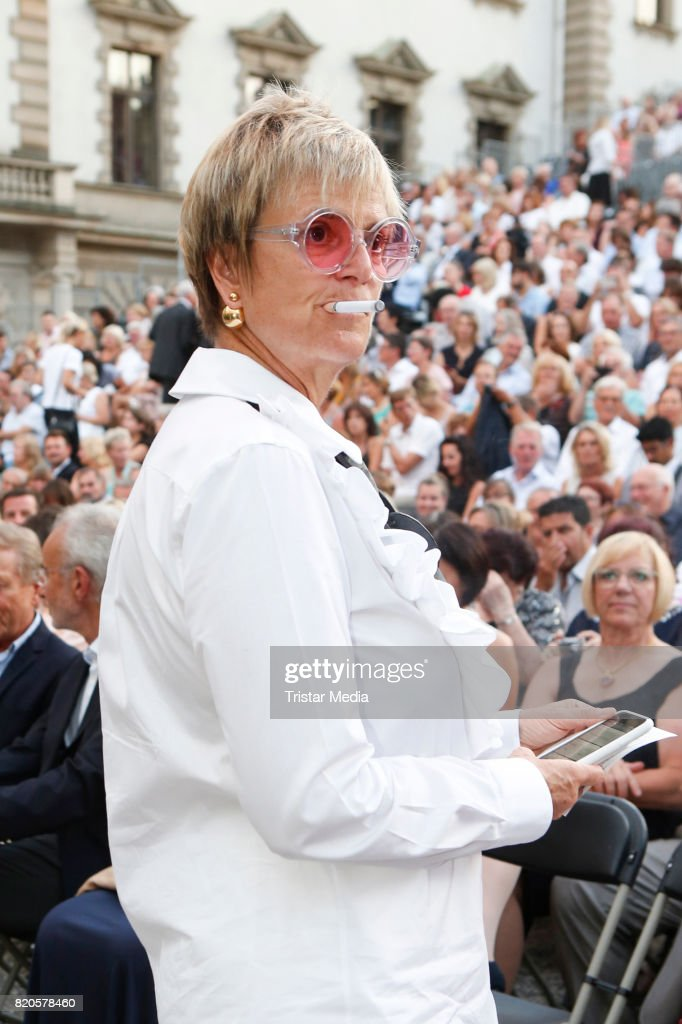 Gloria von Thurn und Taxis during the Art Garfunkel concert at the Thurn & Taxis Castle Festival 2017 on July 21, 2017 in Regensburg, Germany.