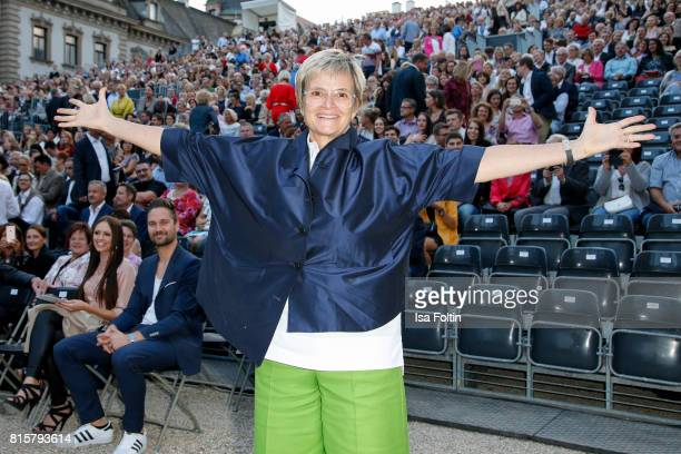 Gloria von Thurn und Taxis during the Ronan Keating concert at the Thurn Taxis Castle Festival 2017 on July 16 2017 in Regensburg Germany