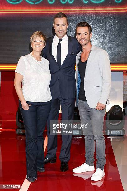 Gloria von Thurn und Taxis Kai Pflaume and Florian Silbereisen attend 'Wer weiss denn sowas' TV Show Photo Call on June 14 2016 in Hamburg Germany