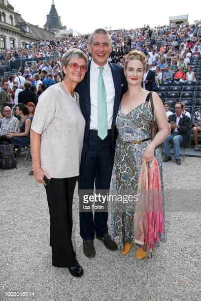 Gloria von Thurn und Taxis Maria Theresia von Thurn und Taxis and her husband Hugo Wilson during the Jamie Cullum concert at Thurn Taxis Castle...