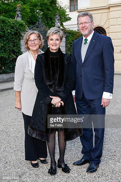 Gloria von Thurn und Taxis politician Marcel Huber and his wife Adelgunde Huber attend the Thurn Taxis Castle Festival 2016 'Carmen' Opera Premiere...