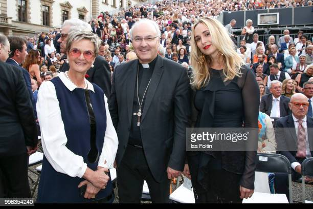 Gloria von Thurn und Taxis Rudolf Voderholzer and Elisabeth von Thurn und Taxis attend the Thurn Taxis Castle Festival 2018 'Tosca' Opera Premiere on...