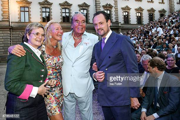 Gloria von Thurn und Taxis with her brother Alexander von SchoenburgGlauchau and HansHermann Weyer with his wife Christina Weyer attend the Tom Jones...
