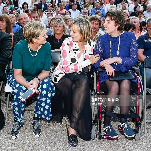 Gloria von Thurn und Taxis with her sister Maya von SchoenburgGlauchau and their daughter Pilar von SchoenburgGlauchau attend 'All you need is love...