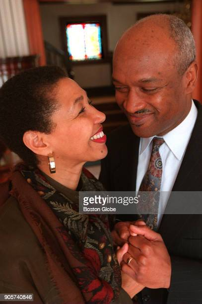 Gloria WhiteHammond left and her husband Reverend Ray Hammond pose for a portrait at their home in Boston on May 13 1997