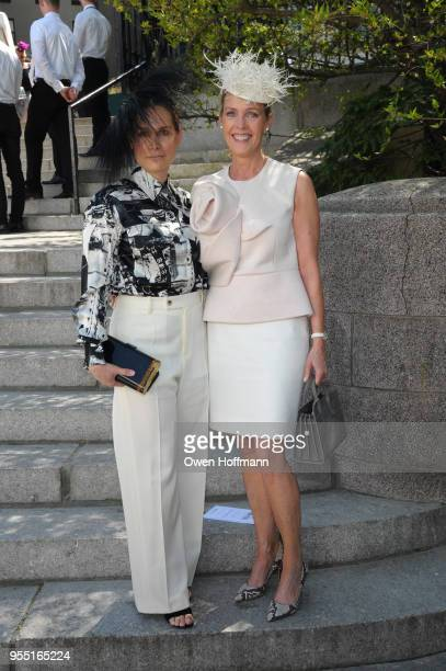 Glorimar O'Hara and Meg Hock attend 36th Annual Frederick Law Olmsted Awards Luncheon Central Park Conservancy at The Conservatory Garden in Central...