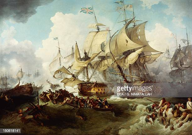 Glorious First of June or Third Battle of Ushant between the English and French by Philip James de Loutherbourg French Revolutionary Wars France 18th...
